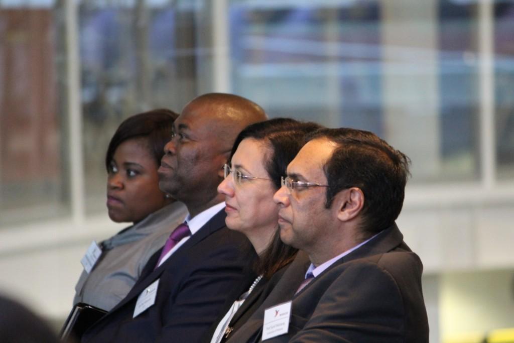 FLTR: Mamohloding Tlhagale (Director: Strategic Partnership, DST SA), Dr Phil Mjwara (Director General, DST SA), Prof Cheryl Merle de la Rey (Vice-chancellor, University of Pretoria, SA), and Prof Sunil Maharaj (Dean: EBIT, University of Pretoria, SA).