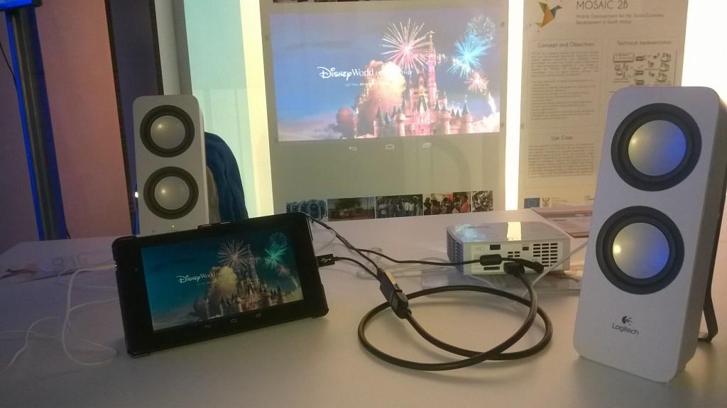 ICT 2015, Lisbon, MOSAIC 2B booth